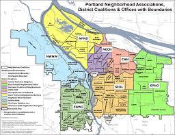map of oregon portland neighborhood association pages the city of portland oregon
