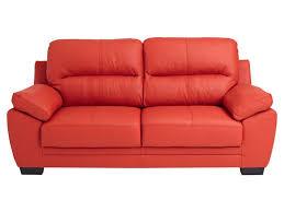 conforama canapé en cuir canapé fixe 3 places en cuir 2 coloris vente de
