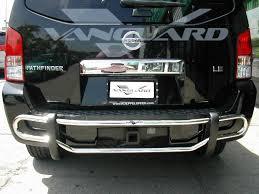 nissan pathfinder bull bar vanguard 05 12 pathfinder rear bumper bar protector guard double