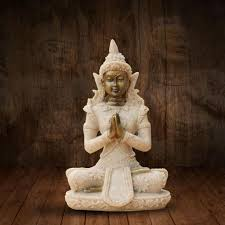 Decorative Sculptures For The Home Meditation Buddha Statue Sculptures Home Decor Ornaments Creative