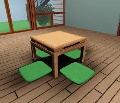 Japanese Dining Room Furniture by Mod The Sims Japanese Low Dining Table Ts2 Bon Voyage