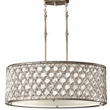 Lucia Chandelier Lighting Feiss Lucia 3 Light Burnished Silver Oval Drum