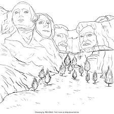 mount rushmore coloring page u2013 i love mel