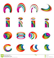 vector alphabet vibrant logo designs version 2 stock vector