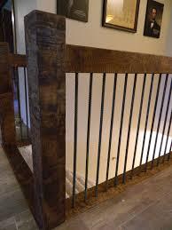 Indoor Banisters Railing Distressed Knotty Alder With Rebar Spindles Deck