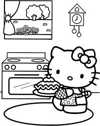 21 hello kitty happy birthday coloring pages celebrations