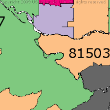 grand junction colorado zip code boundary map co