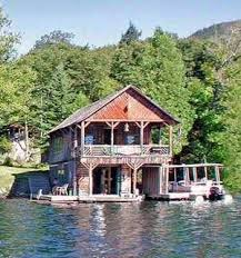 Small Lake Cabin Plans Nice Combination Log Cabin Design And Boathouse Homes I Love
