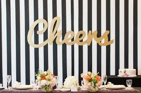 wedding backdrop letters modern bridal shower with a pink gold black color