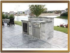 Outdoor Kitchen Island Designs by Blue Pearl Granite Outdoor Kitchen With 5