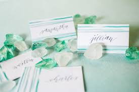 sea glass watercolor place cards creative