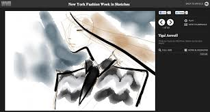sketches made with paper in wwd final fashion