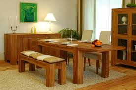 Bench Style Dining Tables Breakfast Table With Bench 792 Decoration Ideas