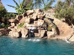 Backyard Pool With Slide - rock pools corona ontario california pools