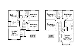 single story duplex designs floor plans single story duplex house plan corner lot duplex plans d 392