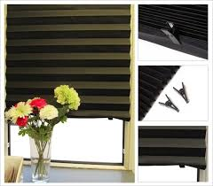 Stick On Blackout Blinds Quick Fix Adhesive Blackout Shade Temporary Pleated Paper Blinds