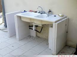 evier cuisine exterieure conception d un meuble sous évier d extérieur le jardin du home