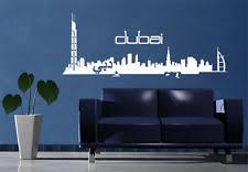 Skyline Wallpaper Bedroom Dubai City Skyline Wall Decal Vinyl Sticker Art Decor Buildings
