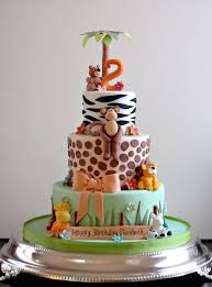 zoo themed birthday cake giraffe animal themed first birthday cake contact cupcakes to order
