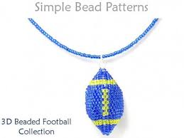 necklace pattern collection images Beaded football earrings necklace keychain ornament beading pattern jpg