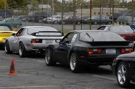 porsche 944 silver black on ccws silver with the adjustable wing porsche 944