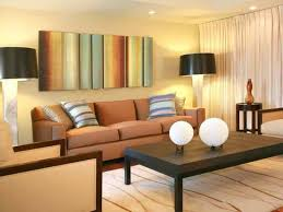 living room decorating without windows with light wall color and