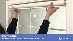 how to install bali cordless solar and roller shades inside