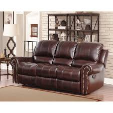 Leather Reclining Sofa Loveseat Abbyson Broadway Top Grain Leather Reclining 2 Living Room