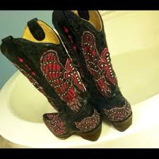 womens size 12 black cowboy boots 69 corral boots black and pink cowboy boots from jenn s