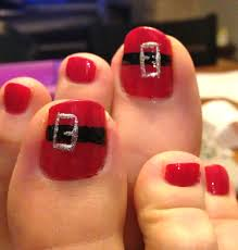 holiday toe nail art toe nailsart