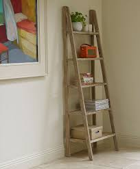 Distressed White Bookcase by Interior Leaning Ladder Shelves Leaning Wall Shelves Ladder