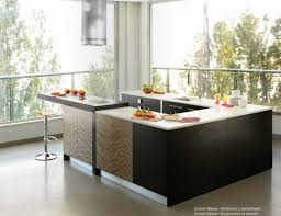 kitchen sleek and chic modern kitchens that make their own cuts large image for black brown modern kitchen design with round glossy chimney and u shaped kitchen