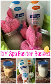 Homemade Gifts For Mom by Spa Easter Basket With Softsoap Fresh And Glow Perfect Easter