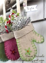 house revivals felted wool mitten ornaments