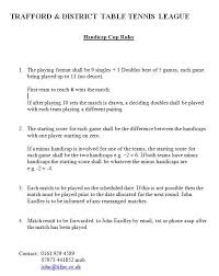 10 rules of table tennis handicap cup 2017 18 trafford table tennis league