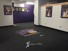 logo locker room carpet mats