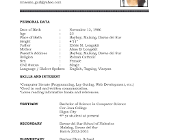 employment resume template amazing basic resume template for highschool students with high