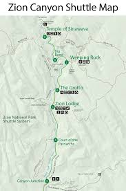 map of zion national park zion national park day 2 rvseniormoments