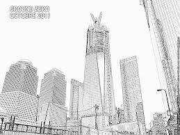 coloriage new york ground zero à imprimer pour les enfants