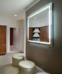 Lighted Mirrors For Bathrooms Lighted Mirrors For Bathroom Lighting Backlit Mirror Home Depot