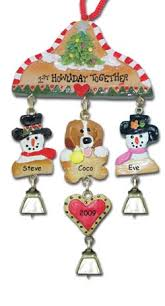 beagle dog personalized christmas ornament