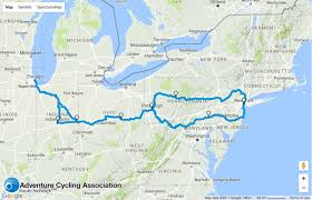 chicago map maps bike 1 100 from chicago to nyc on this