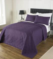 bedspread and pillow shams set plum free uk delivery terrys