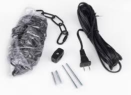 b16 swag kit gallery chandeliers black swag plug in hanging kit