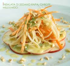 insalata di sedano e mele insalata di sedano rapa carote mele e nocciole