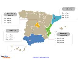 Spain Map World by Free Spain Powerpoint Map Free Powerpoint Templates