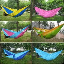 portable nylon parachute double hammock garden outdoor camping