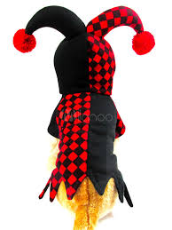 Halloween Costume Harley Quinn Dog Halloween Costume Harley Quinn Clown Red Black Checkered Pet