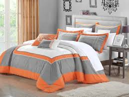 Orange Bed Sets Orange Comforter Set Intended For Size Prepare 3