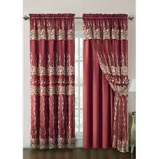Curtains 90 Inches Vcny Darius Curtain Panel With Attached Valance And Satin Backing